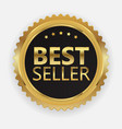 best seller golden label sign vector image