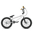 bmx bicycle mockup - right side view vector image vector image