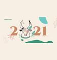 boho in year bull vector image vector image