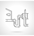 Car emissions test flat line design icon vector image vector image