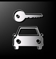 car key simplistic sign gray 3d printed vector image vector image