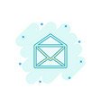 cartoon mail envelope icon in comic style email vector image vector image