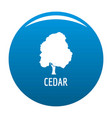 cedar tree icon blue vector image vector image