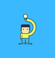 character generates fresh idea vector image