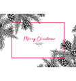 christmas holiday greeting card with fir tree vector image