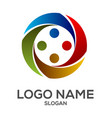 circle human element logo design vector image vector image