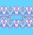 colorful invitation card vector image vector image