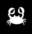 crab or cancer icon isolated on black background vector image vector image