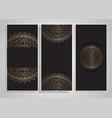 decorative mandala designs vector image vector image
