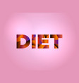 diet concept colorful word art vector image vector image