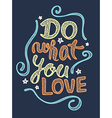 Do what you love vector image