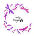 dragonflies in flight vector image vector image