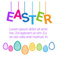 easter card colorful decoration poster design vector image vector image