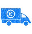 euro delivery grunge icon vector image vector image