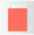 fabric sample textile swatch template vector image vector image