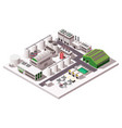 factory isometric composition vector image vector image