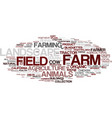 farm word cloud concept vector image