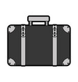 flat suitcase cartoon vector image