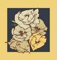 flowers bouquet over dark background in mustard vector image vector image