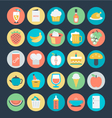 Food Colored Icons 8 vector image vector image