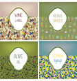 Food labels set design with patterns vector image vector image