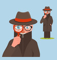 funny detective character vector image