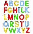 funny latin alphabet vector image vector image