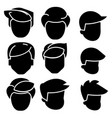 hairs men icon black sign on vector image