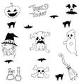 Halloween ghost doodle set vector image vector image