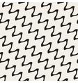 Hand Drawn ZigZag Diagonal Wavy Lines vector image