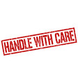 handle with care stamp vector image vector image