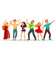 happy people dancing in various poses flat vector image vector image