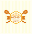 honey premium product colored emblem vector image vector image