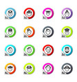 icons set occupation vector image