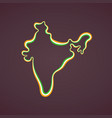 india - outline map vector image