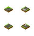 isometric way set of repairs footpassenger vector image vector image