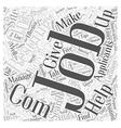 job sites dlvy nicheblowercom Word Cloud Concept vector image vector image
