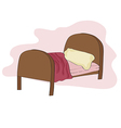 kid bed vector image
