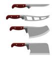 kitchen knife weapon steel sharp dagger metal vector image vector image