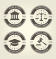 lawyer bureau emblems and labels vector image vector image