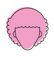 man with afro hair icon imag vector image