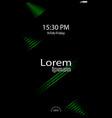 modern lock screen for mobile apps mobile vector image