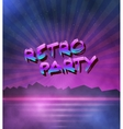 Neon Style Background 1980 Neon Poster vector image vector image