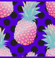 pineapple creative trendy seamless pattern vector image vector image