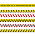 police line and do not cross danger tapes eps 10 vector image vector image
