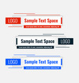 rectangular lower third modern template design vector image vector image