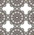 Round henna mehendi drawing mandalas drawn vector image vector image