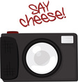 Say Cheese vector image vector image