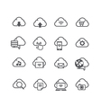 Set of cloud computer and social network vector image