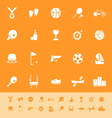 Sport game athletic color icons on orange vector image vector image